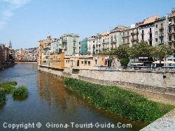The Tourist Information Centre Is The Small Cream Coloured Building. They Have Information On Camping in Girona
