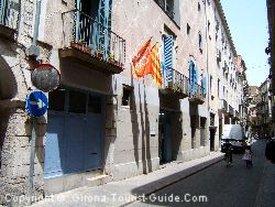 The Street Next To The Girona Hostel