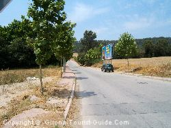The Entry Road To The Girona Golf Course