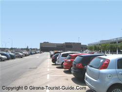 The Girona airport outdoor car park