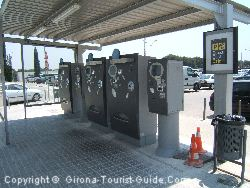 The automatic payment machines for airport parking Gerona