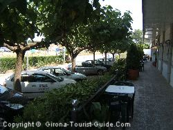 The Parking Area And Part Of The Outdoor Seating Area At The Gerona Airport Hotel Vilobi