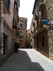 A Typical Street In Historic Girona Where You Will Find The Hotel Historic