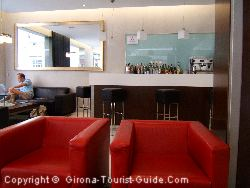 The Hotel Ciutat Gerona Lounge And Bar Area