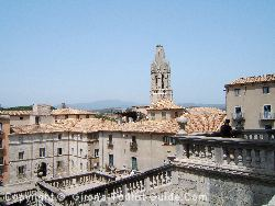 The View Across The Rooftops Of Old Girona From The Cathedral Near The Hotel Historic
